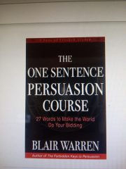 One Sentence Persuasion Course Book By Blair Warren